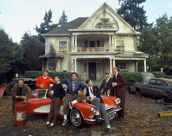 Cast photo from the film Animal House in 1978