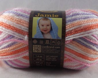 Skein of Summer Stripes Jamie Yarn - Lion Brand Yarn