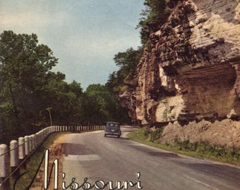 1940s MISSOURI STATE MAP and Travelogue