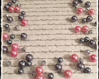 Floating Pearls- Pink Smoke
