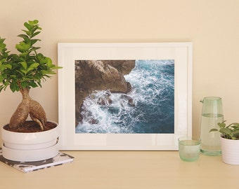 Blue Coastal Poster; Coastal Poster; Coastal Wall Art; Ocean Poster; Ocean Blue; Art Print; Ocean Cove Poster