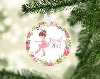 Ballerina Ornament. Little Girl. Dancer. Christmas Ornament. Personalized. Custom. Keepsake. Dance. Girl. Ballet. Aluminum. Ceramic.
