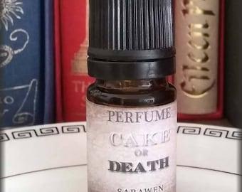 Dark Amber CAKE Vegan Perfume Oil / Cake Amber scent / Vegan Handcrafted perfume oil / Gothic perfume