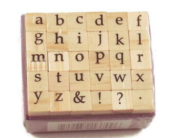 Mini Alphabet Rubber Stamp Set  (ARS-9)