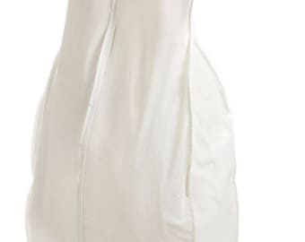 EXTRA LARGE 12 in Vinyl Gusset Wedding dress Garment Bag, Bridesmaid, Prom dress, Formal dress.- White