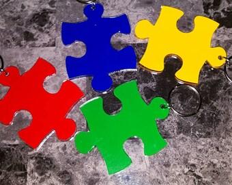Puzzle Piece Keychain/Autism Puzzle Piece/Autism Awareness Puzzle Piece Keychain