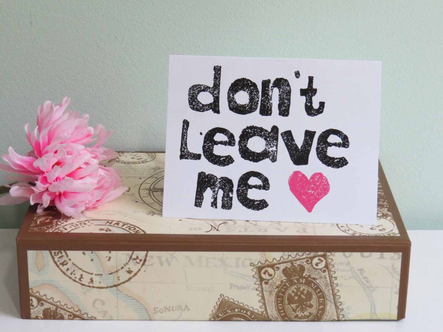 Break Up Graduation Card Dont Leave Me Greeting Card