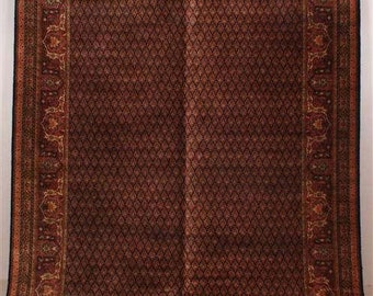 6156: Antique KARASTAN SAROUK Floor Room Size Rug 9' x 11.6' GREAT Colors at Vintageway Furniture