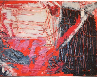 Original Acrylic Painting: Becker Beste No. 14., Abstract art, Expressionist art, colorist painting, red art, art decoration, home decor