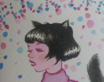 "Fluff Off - 4.5×7.5"" Giclee Print"