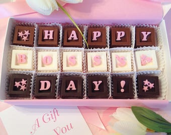 Boss Gift - Happy Boss's Day Chocolates - Boss Day Gift - Bosses Day Gift - Gift for Boss - Manager Gift - Lady Boss - Boss Present