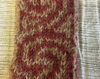 Reversible Knitted Thin Scarf