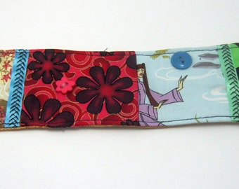Martial Arts/ Female/Boho/Gypsy/ Patchwork Bracelet Cuff-Gift