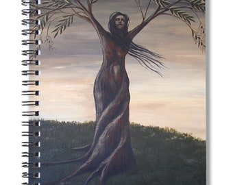 Surreal Art Spiral Notebook, Surreal Dream Journal, Tree of Life Notebook