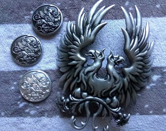 Dragon age cosplay brooch and a griffin