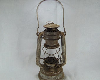 Vintage Distressed Feuerhand No. 276 Lantern, 1950's, Made in Germany