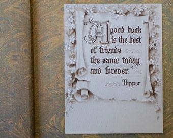 Vintage Book Quote Bookplate