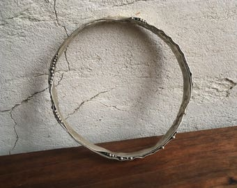 Lunar Bangle, Silver, Small - Talisman of the night sky