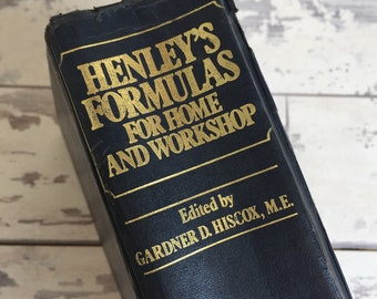 Henley's Formulas for Home and Workshop Vintage Chemistry Book 1920s Updated in the 1970s