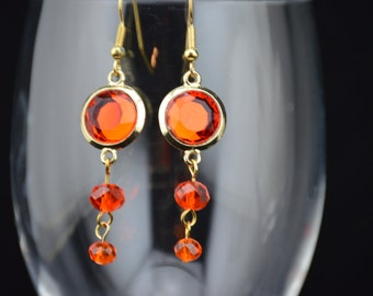 Faceted Orange Drops