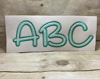 Applique Font, Happy Giraffe Font Applique, Adison Font Applique, Embroidery Font Applique