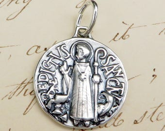 Art Deco St Benedict Medal - Patron against temptation and evil - Antique Reproduction