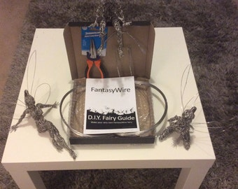Wire Fairy starter kit 2 (NOT Including PLIERS) - everything you need to make your own fairy wire sculpture