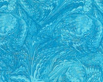 Marble Aqua Enchanted Chong-A Hwang Timeless Treasures Fabric