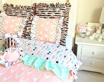 Stag Bedding Set for Twin/Full/Queen, Girl Bedding Ensemble, Bedding Set Including all Pillows, Bedding Sets for Girls, Children's Bedding