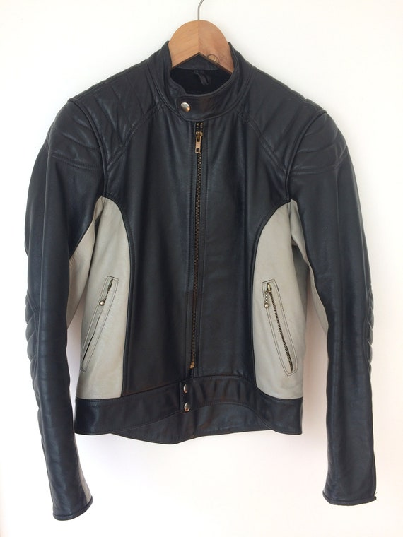 Motorcycle Biker Stagg Leather Jacket Vintage 81Oq1