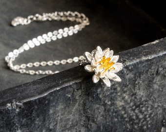 Flower Necklace-925 Sterling Silver Edition