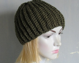 Womens Winter Hat Hand Knit Hat Slouchy Knit Hat Winter Beanie Mens Winter Hat Mens Slouchy Beanie Mens Slouch Beanie Ski Hat Gift for Him