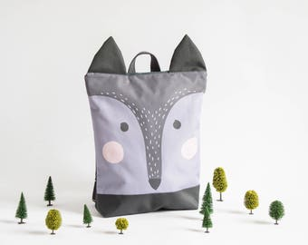 """Waterproof backpack Wolf, Backpack Wolf for adults, 13"""" laptop backpack"""