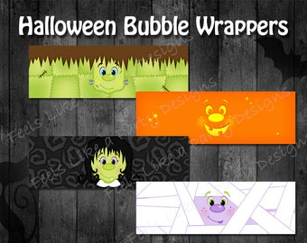 Halloween Bubble Wrappers - Instant Download