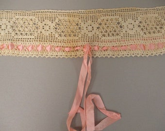 Antique Victorian Camisole Lace Yoke top