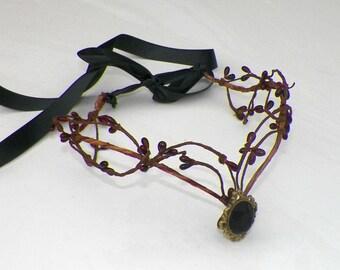 Circlet Fairy Elven Gothic Elf Gothic Woodland Dark Headband Medieval Renaissance Costume Crown Tiara Head Piece Silver