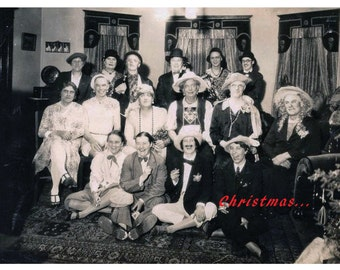 Gay Christmas Greeting Card, Vintage Photo Card, Gay Holiday Card, Drag Queen Card, Drag Queens   ****VMHD1002