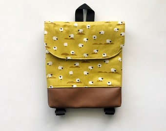 Mustard Sheep Tiny Pack - Small Backpack - Toddler Backpack - Tiny Backpack - Toddler Bag - Backpack