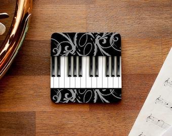 Piano Keyboard Music Themed Coaster