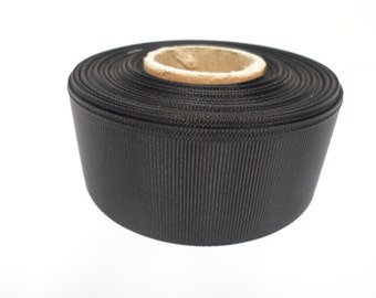 Grosgrain Ribbon 3mm 6mm 10mm 16mm 22mm 38mm 50mm Rolls, Black, 2, 10, 20 or 50 metres, Ribbed Double sided,