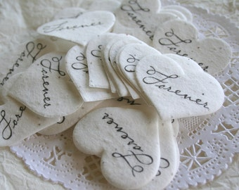 Plantable Wildflower Seed Paper Confetti, Eco Friendly, Seeded Hearts FOREVER