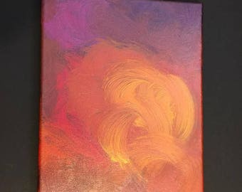 Fire Storm, original 8x10 acrylic on canvas