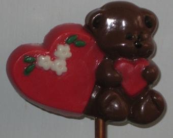 Bear Leaning on Heart Pop