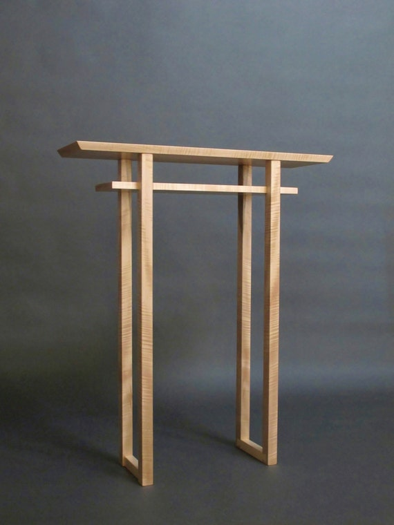 Narrow Altar Table tall console table small side table wood