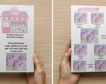 """One page Back and Front Bi-fold Brochure Design for your Small Business ~ Custom Design 8.5"""" x 11"""""""
