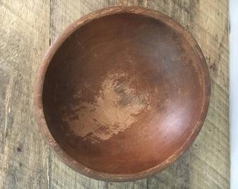 primitive dough bowl