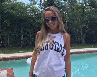 College tank with mesh V