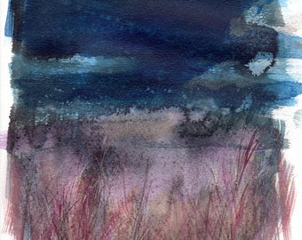 Grasses and Storm II