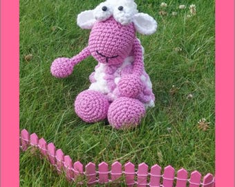 Plush - Toy - sheep - AMIGURUMI - crochet