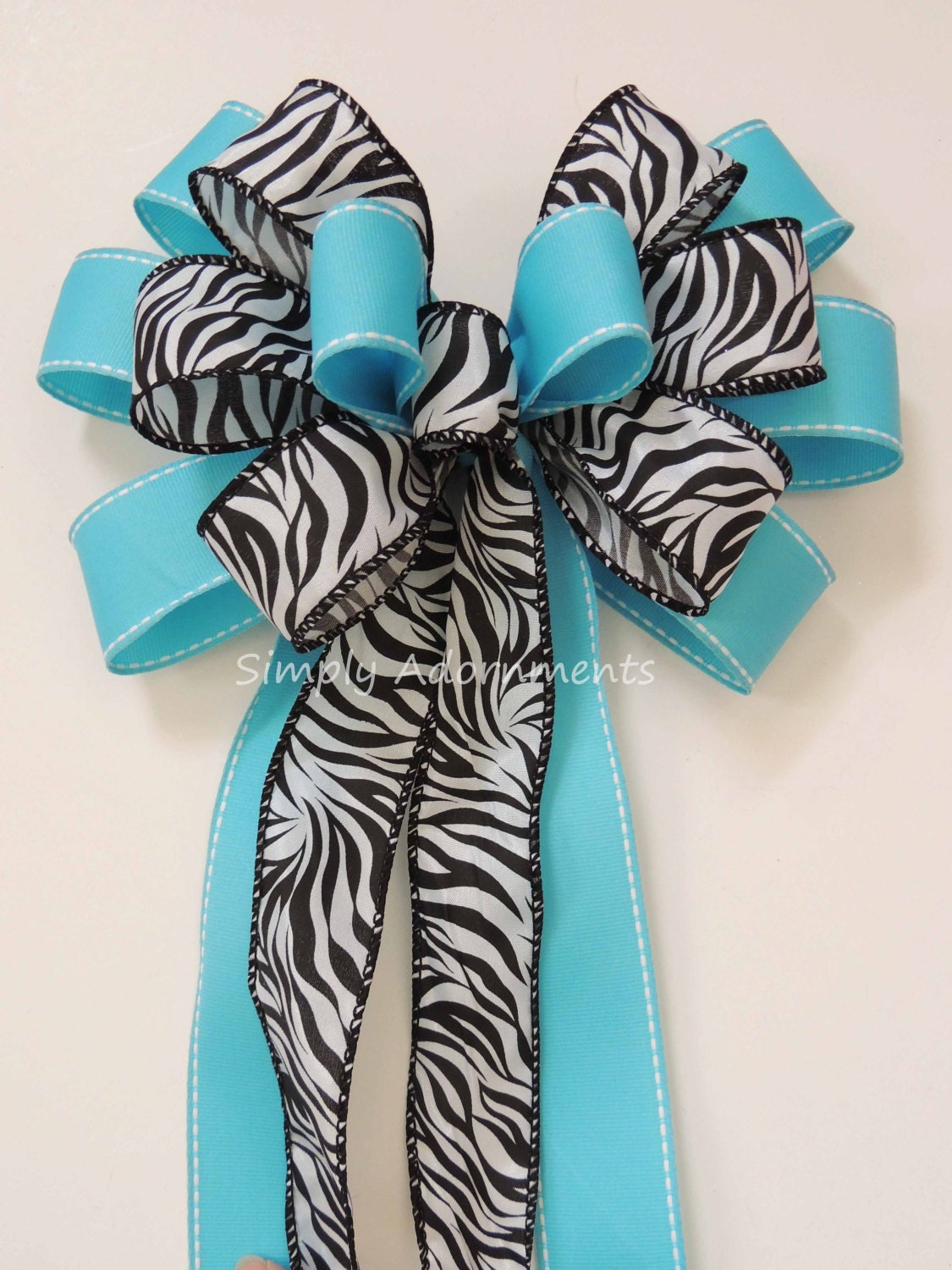 Turquoise zebra Baby Shower Turquoise zebra Birthday Party Decor